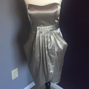 {BCBG generation} strapless silver dress